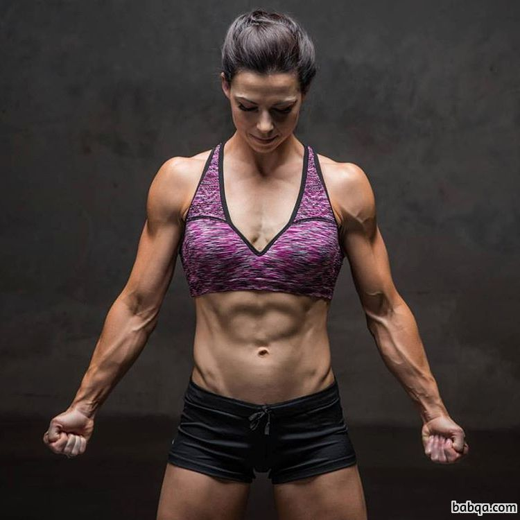 hot woman with strong body and muscle legs pic from linkedin