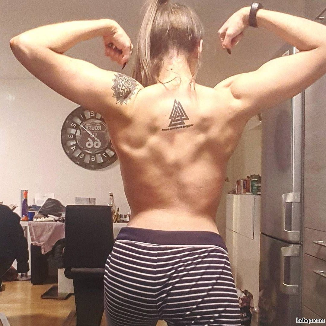 spicy chick with strong body and toned biceps picture from g+