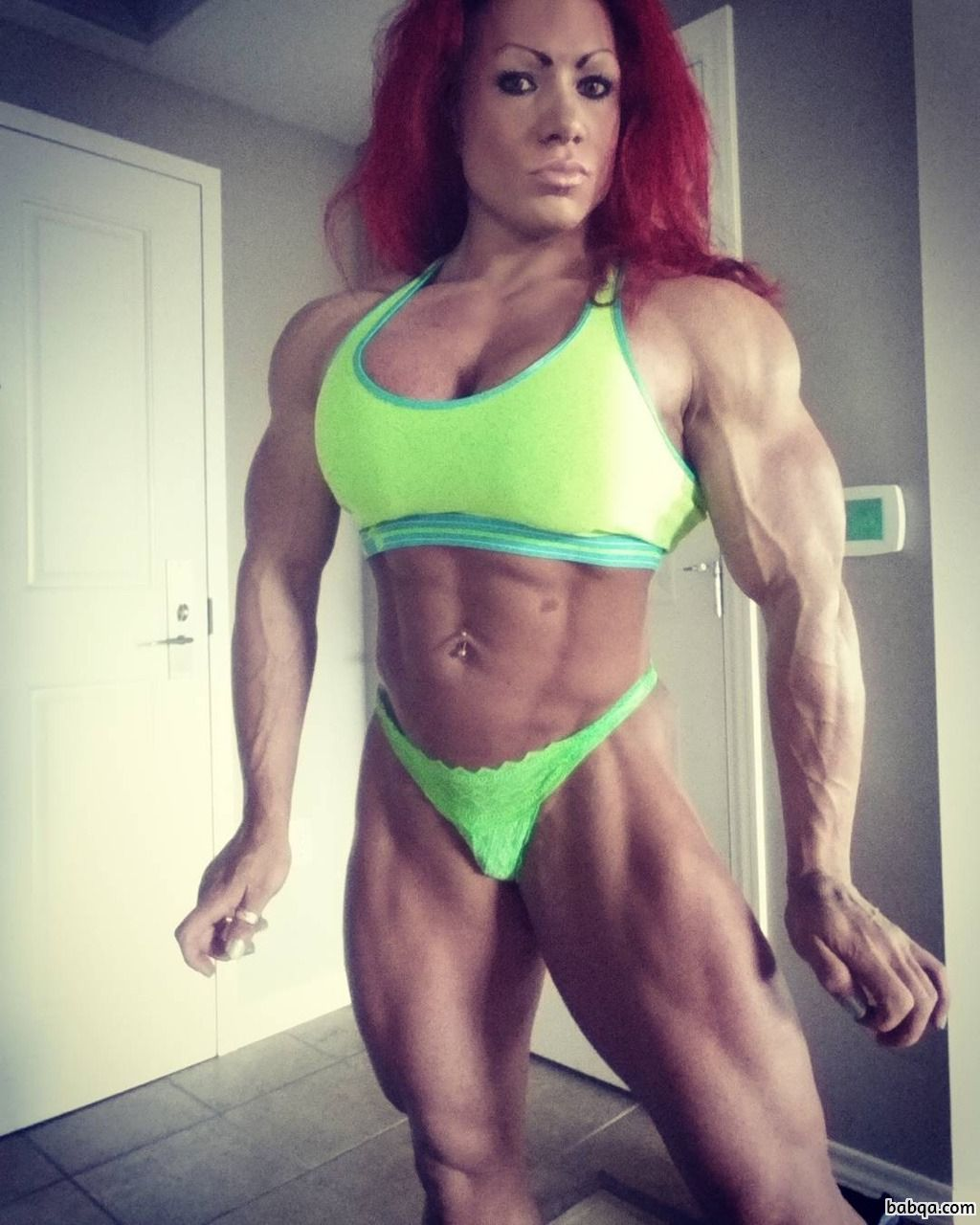 spicy female bodybuilder with muscular body and toned booty pic from flickr