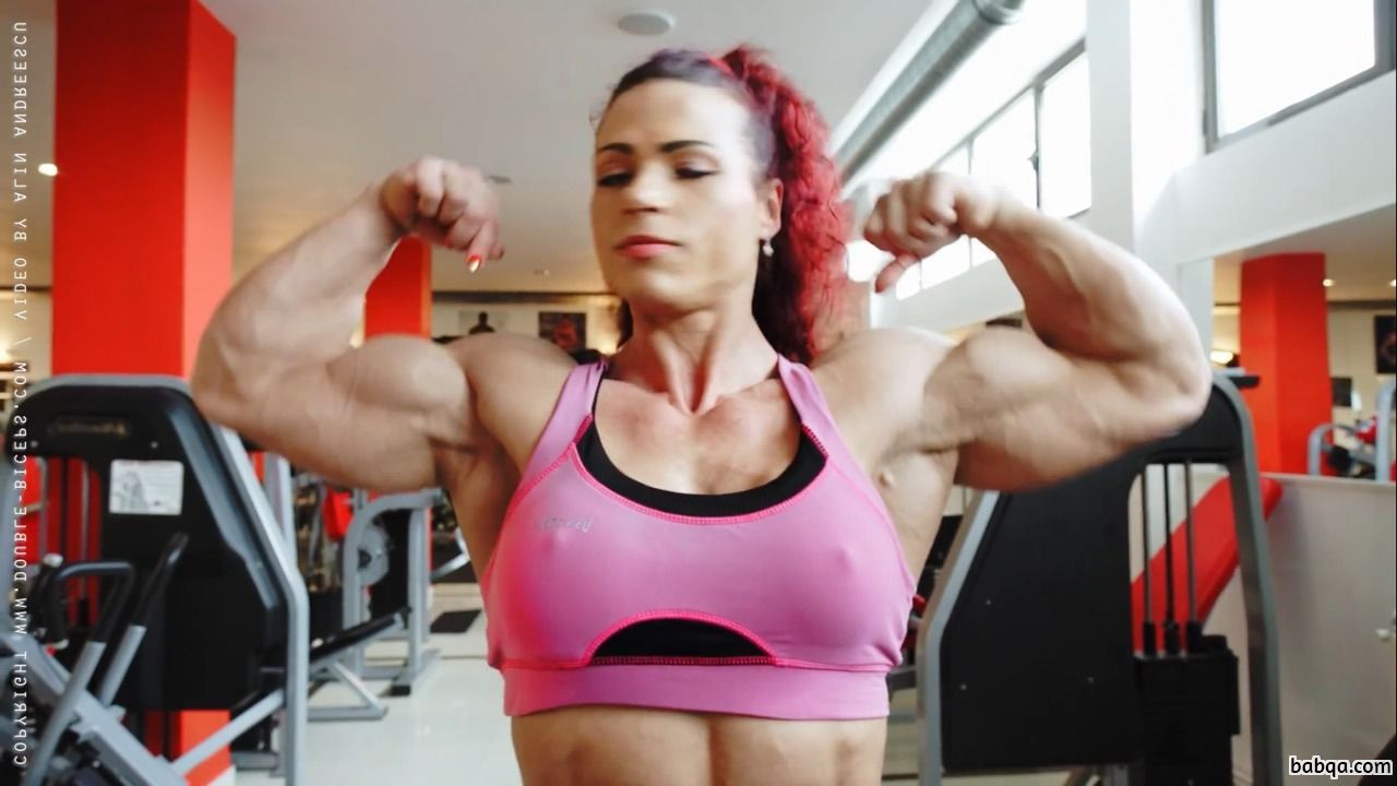 awesome chick with strong body and muscle arms repost from facebook