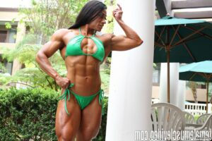 spicy babe with muscle body and toned biceps pic from tumblr