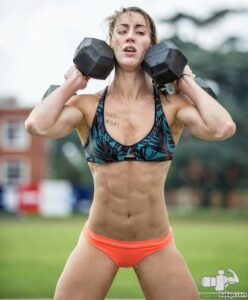 hottest female bodybuilder with fitness body and muscle bottom post from flickr