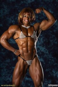 awesome female bodybuilder with muscular body and muscle booty repost from reddit