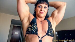 beautiful lady with muscle body and toned arms repost from flickr