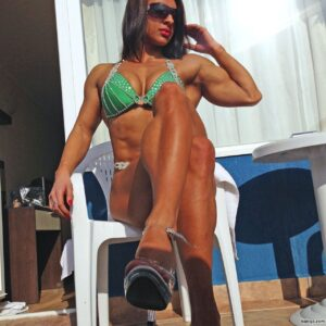 perfect female bodybuilder with muscular body and toned arms post from flickr