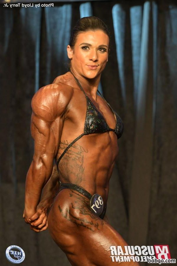 spicy female bodybuilder with muscle body and muscle legs picture from g+