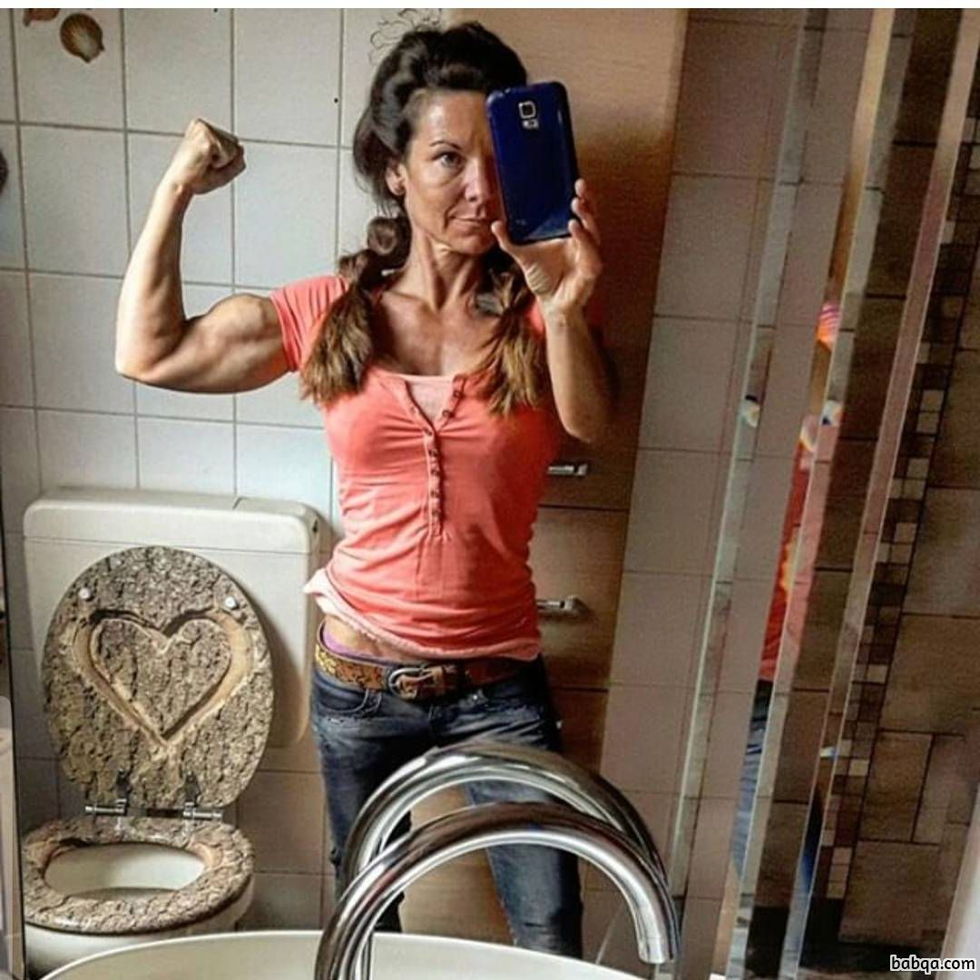 awesome female bodybuilder with muscle body and toned booty post from linkedin