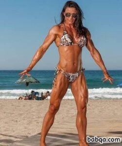sexy chick with fitness body and toned biceps image from facebook