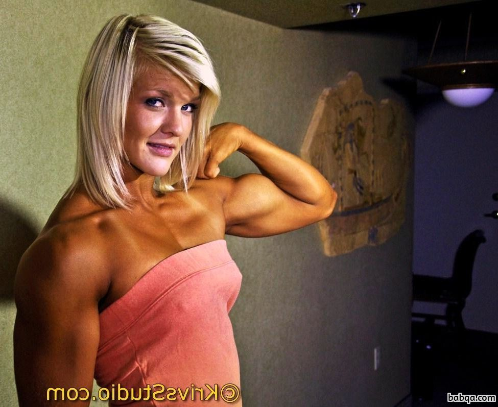 sexy female with strong body and muscle biceps photo from reddit