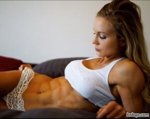 perfect chick with fitness body and muscle legs image from reddit