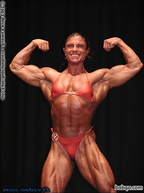 sexy female with muscle body and muscle arms photo from g+