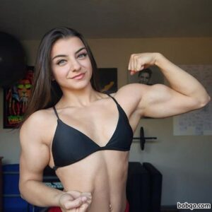 awesome babe with strong body and muscle biceps photo from linkedin
