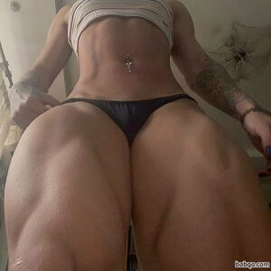 perfect girl with muscle body and toned bottom repost from flickr