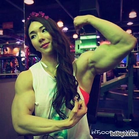 beautiful female bodybuilder with muscle body and muscle arms repost from instagram