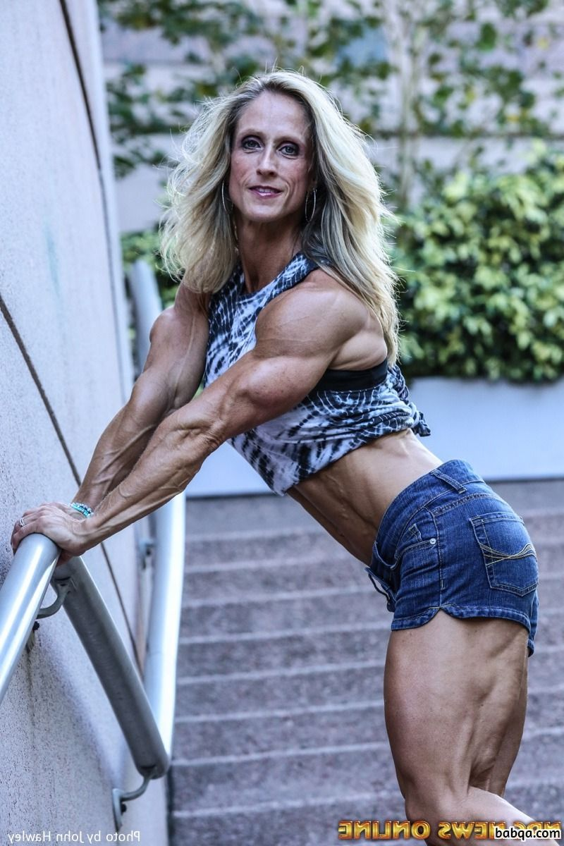perfect lady with muscle body and toned biceps pic from tumblr