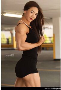 cute female with muscular body and muscle bottom repost from flickr