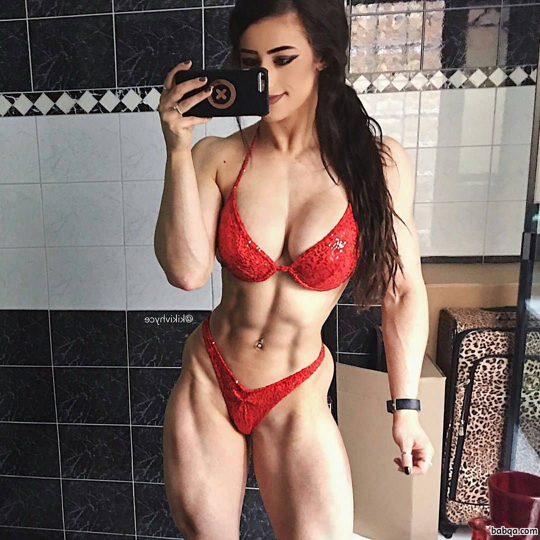 spicy woman with muscle body and toned legs image from insta