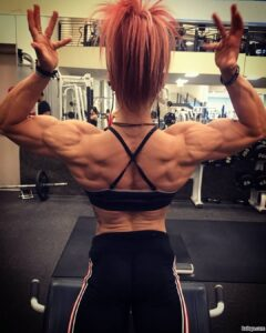 perfect lady with muscle body and toned biceps pic from linkedin