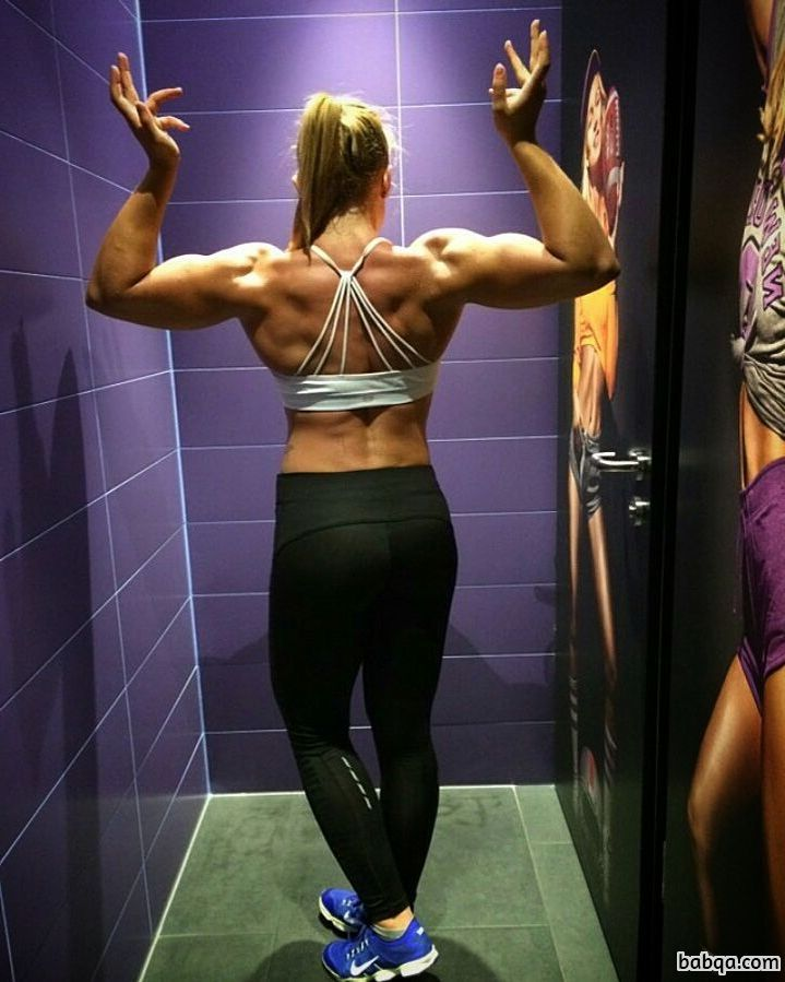 awesome lady with fitness body and muscle booty repost from flickr