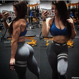 hot woman with fitness body and muscle ass repost from g+