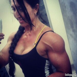 awesome lady with muscle body and toned arms picture from flickr