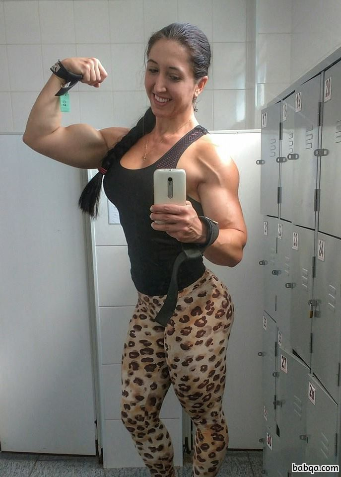 cute woman with muscle body and toned booty image from facebook