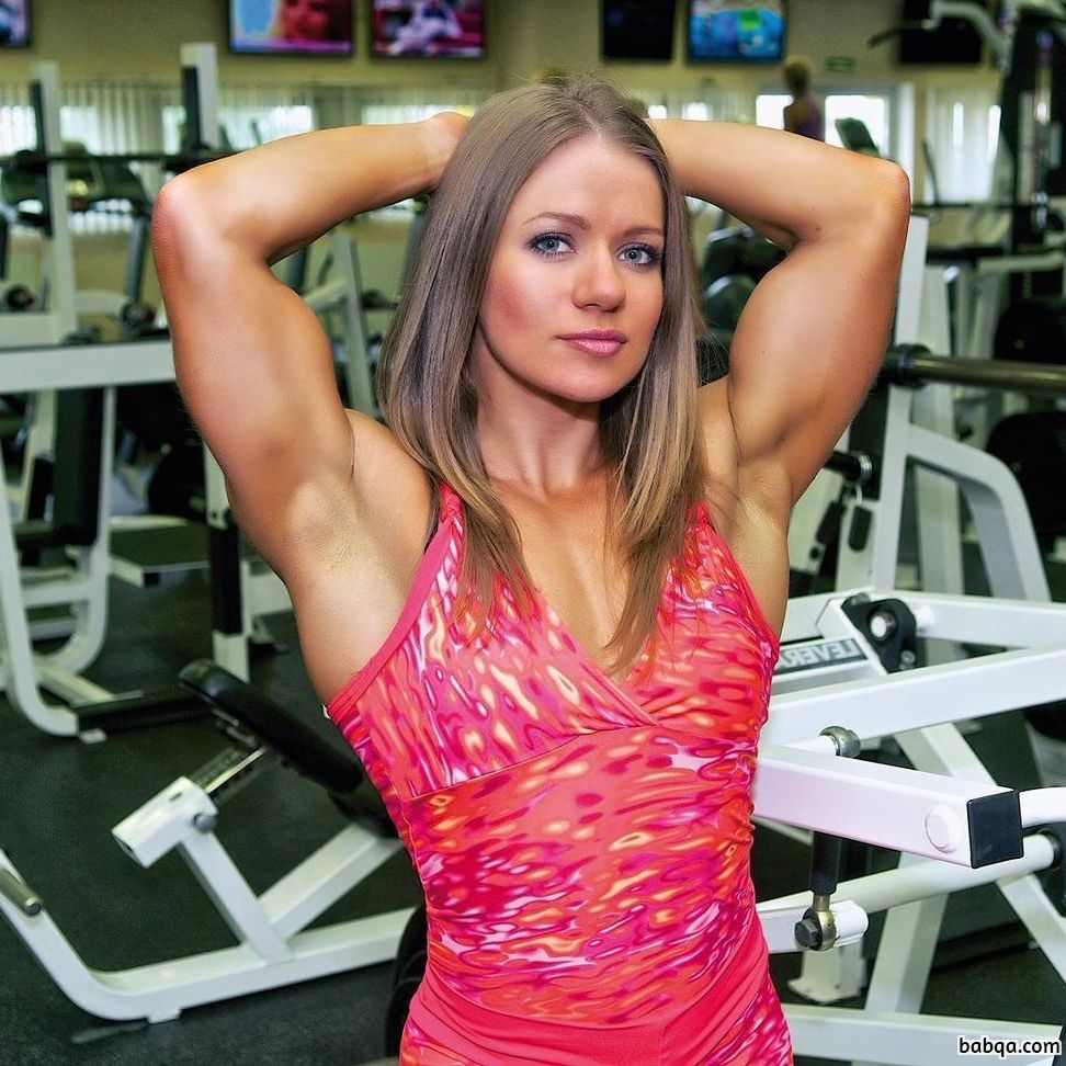 hottest woman with strong body and muscle arms photo from reddit