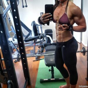 spicy chick with muscular body and muscle ass photo from g+