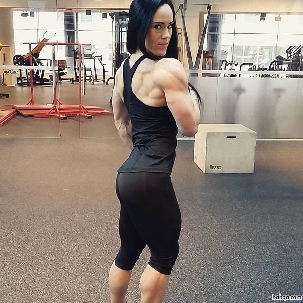beautiful chick with muscle body and toned arms picture from linkedin