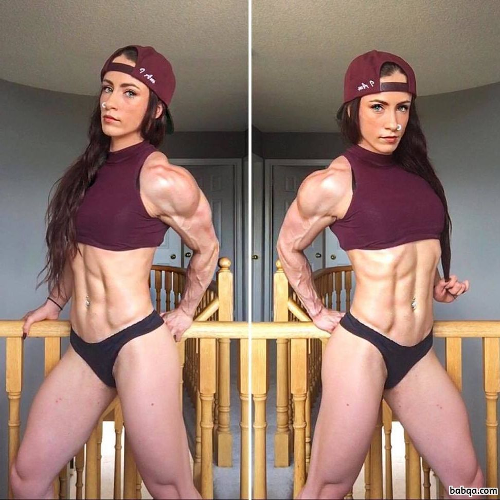 perfect female bodybuilder with strong body and toned booty post from flickr