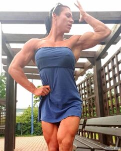 hottest female with muscle body and muscle arms repost from reddit