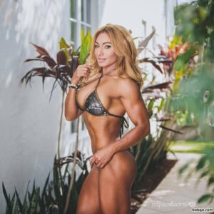 hottest girl with fitness body and muscle biceps repost from tumblr