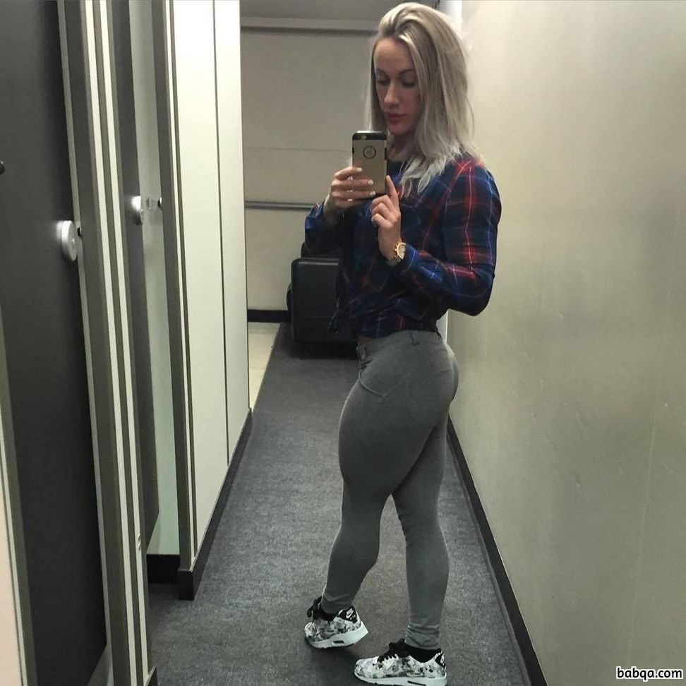 beautiful girl with muscle body and toned ass post from insta