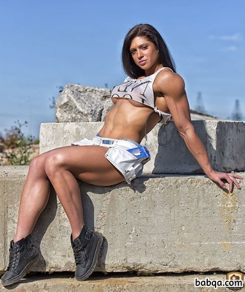 hot woman with strong body and muscle legs picture from flickr