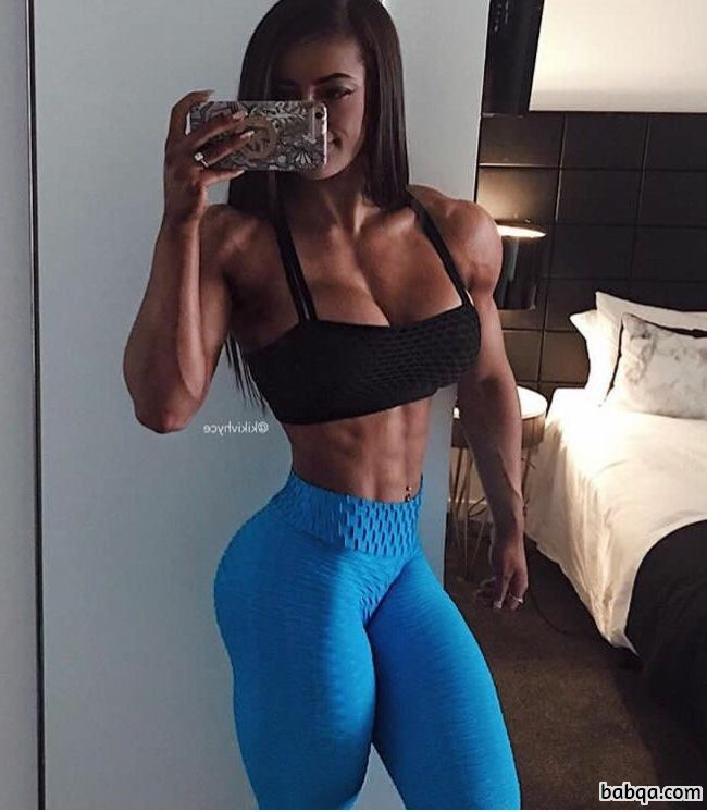 beautiful girl with fitness body and toned biceps picture from tumblr