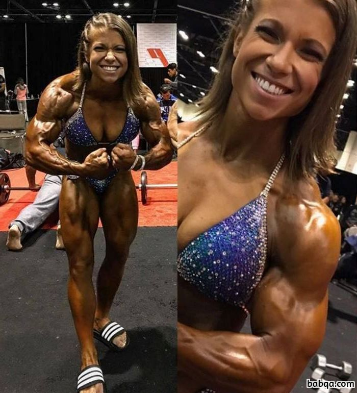 perfect girl with fitness body and muscle legs repost from linkedin