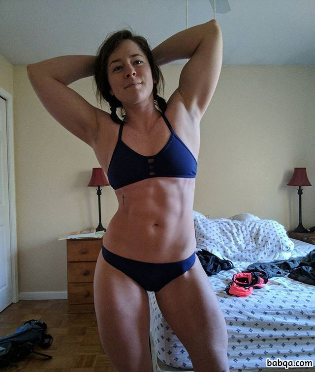 spicy lady with muscle body and muscle arms post from reddit