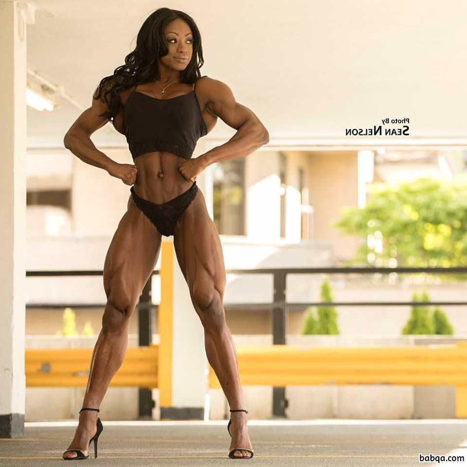 sexy girl with fitness body and muscle arms pic from g+