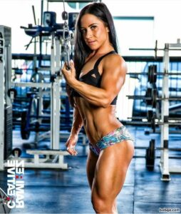 sexy female with muscular body and muscle bottom picture from facebook