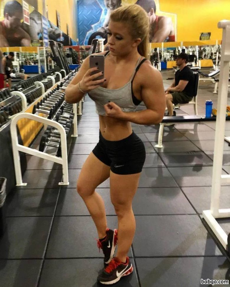 awesome female with fitness body and toned legs pic from linkedin