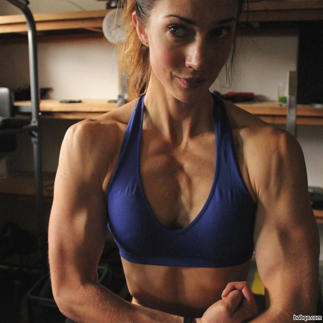 awesome girl with strong body and muscle arms pic from insta