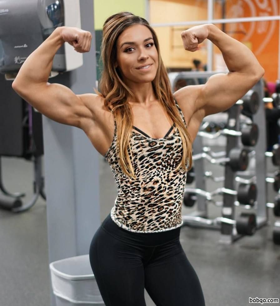 hottest girl with strong body and muscle biceps image from reddit