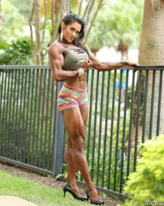 awesome female with fitness body and toned legs repost from g+