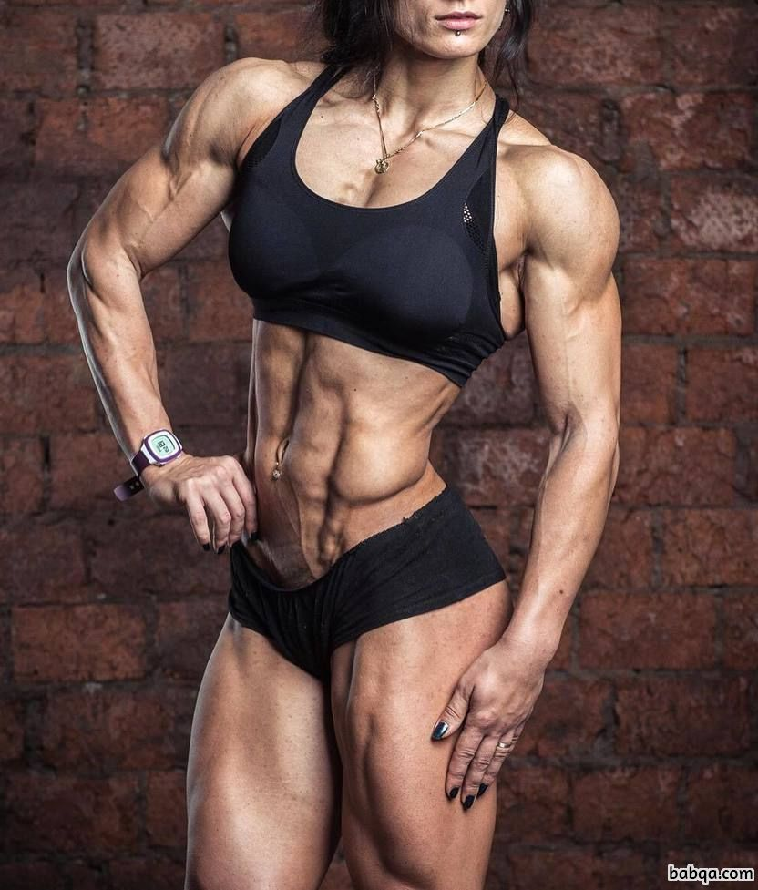 cute female bodybuilder with fitness body and toned legs picture from facebook