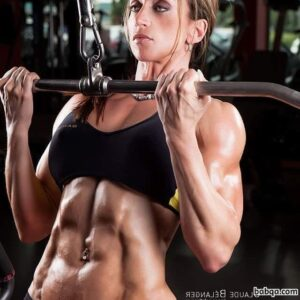hottest female with fitness body and toned biceps image from reddit