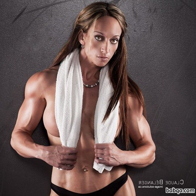 hot girl with muscle body and muscle biceps post from reddit