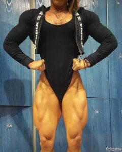 hot female with muscular body and muscle booty pic from tumblr