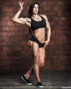 hottest female bodybuilder with strong body and muscle biceps picture from instagram