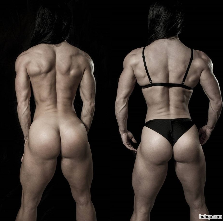 cute female bodybuilder with strong body and muscle legs repost from instagram