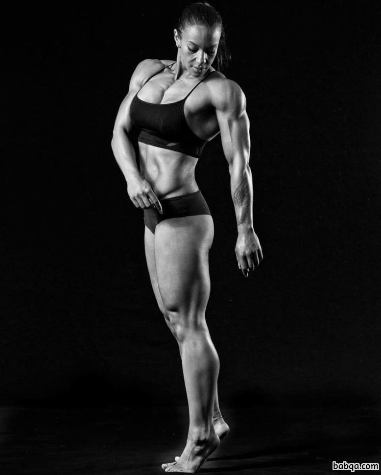 perfect female bodybuilder with fitness body and muscle booty repost from linkedin
